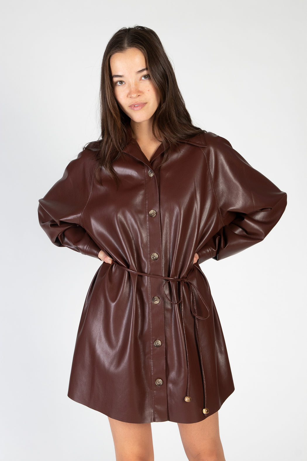 Nanushka-Joy-Vegan-Leather-Dress-Plum