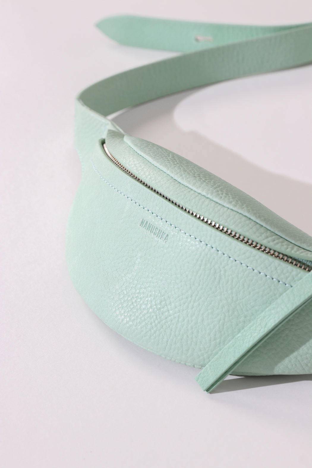 Nanushka Mini Lubo Bumbag in Mint