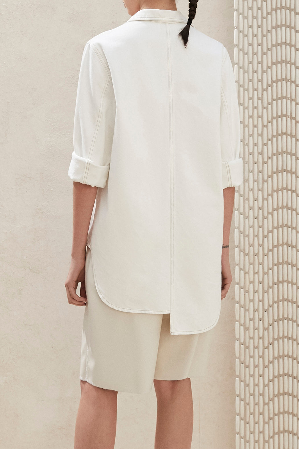 Nanushka Soli Oversized Shirt in White