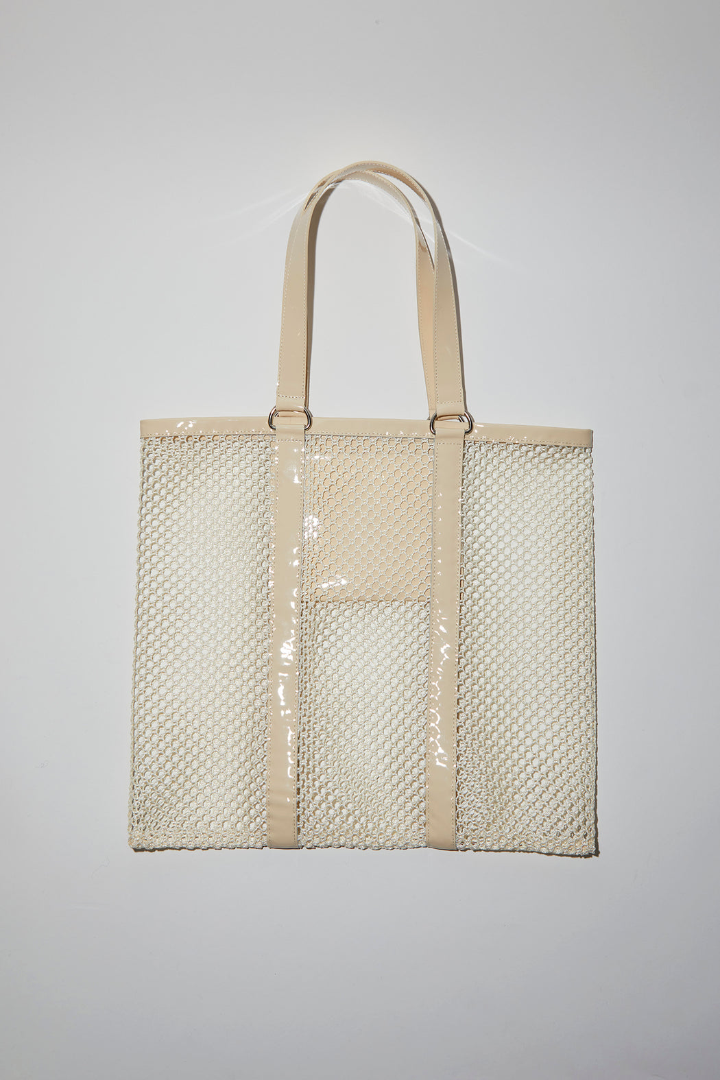 No.6 Harley Woven Bag in Cream