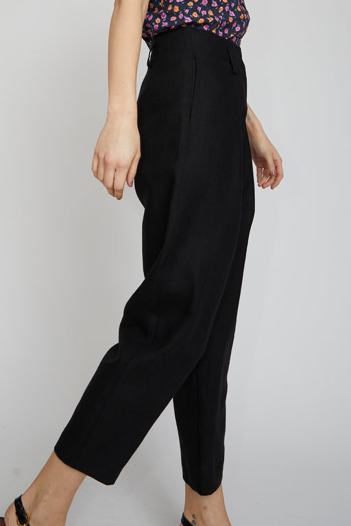 No.6 Hollis Pant in Black Linen