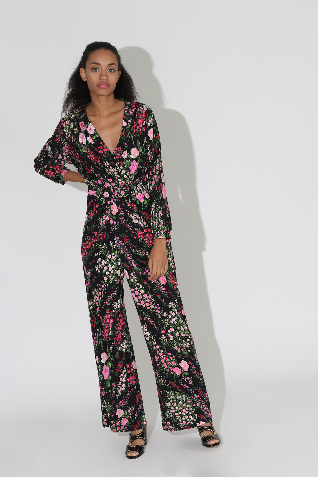 No 6 August Wrap Jumpsuit Black English Garden