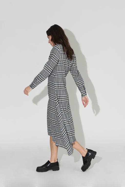 No 6 Campden Plaid Dress Black Cream