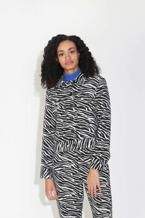 No.6 Claudia Jacket in Vegas Jacquard Zebra