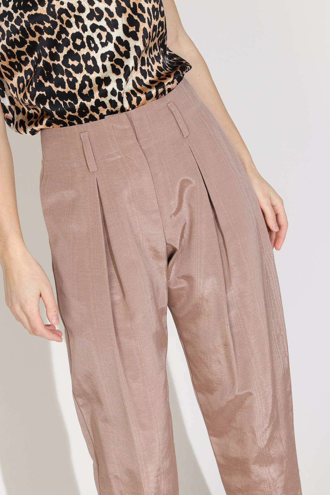 No.6 Hollis Pant in Biscuit Moire