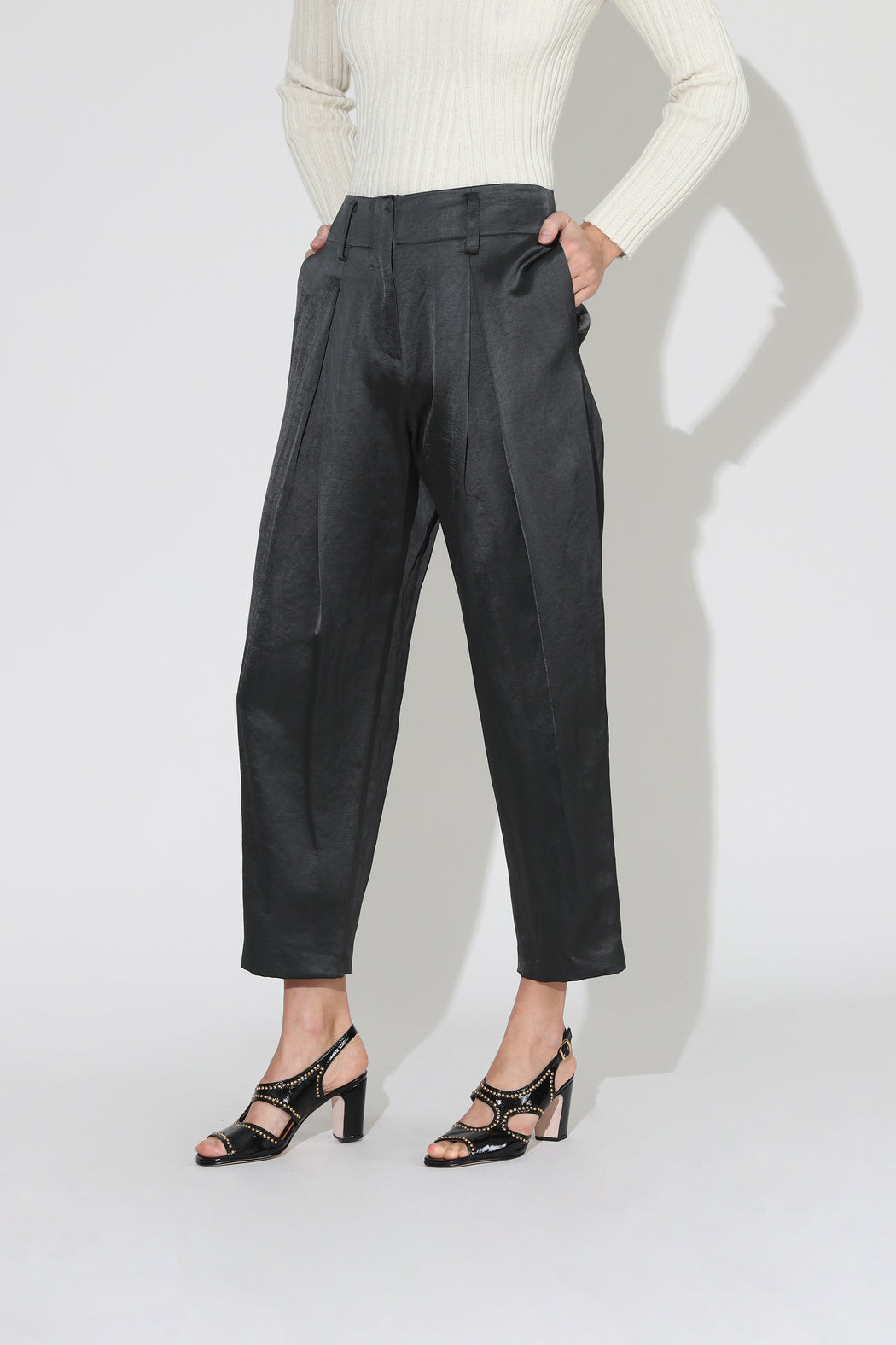 No 6 Hollis Sateen Pant Petrol