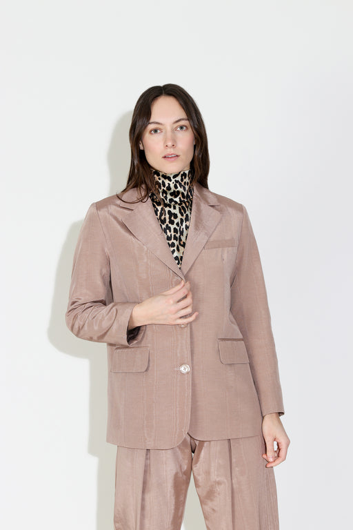 No.6 Leon Blazer in Biscuit Moire