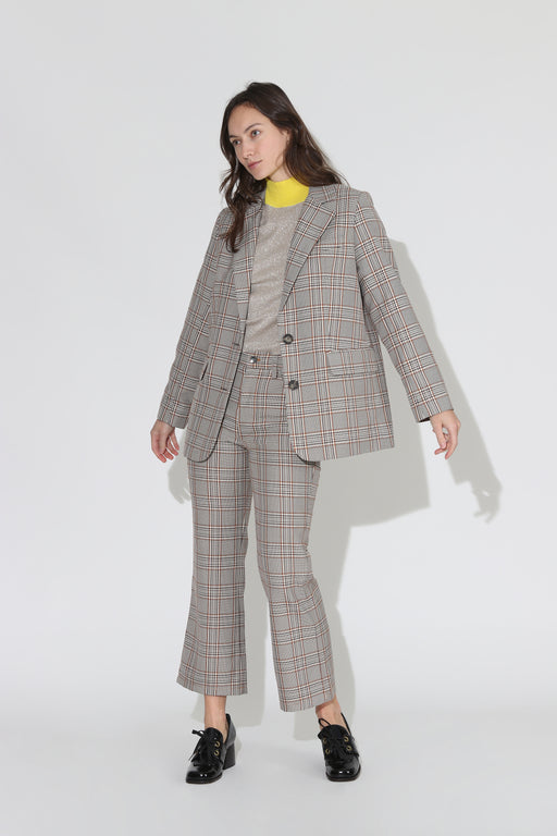 No 6 Leon Plaid Blazer Oxford