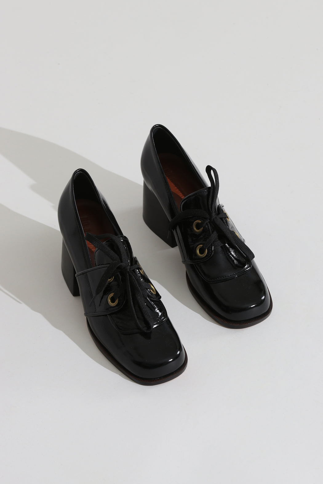 No 6 Milo Lace Oxford Shoes Ink Leather
