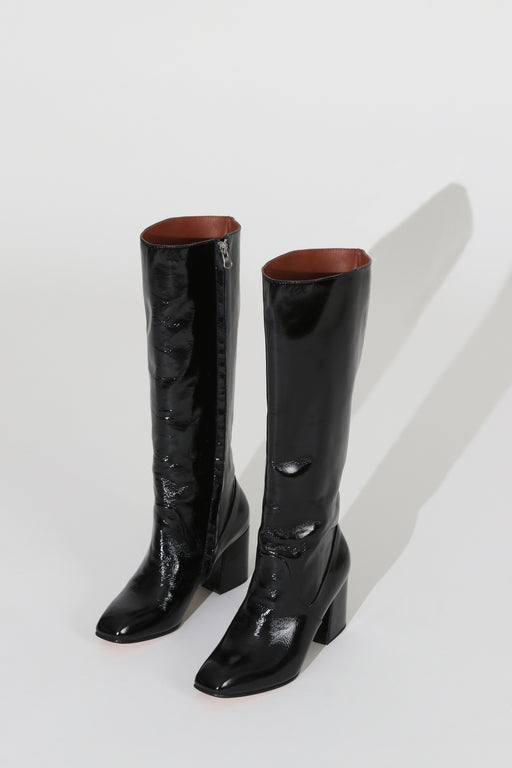 No 6 Sloan Knee High Boot Ink Leather