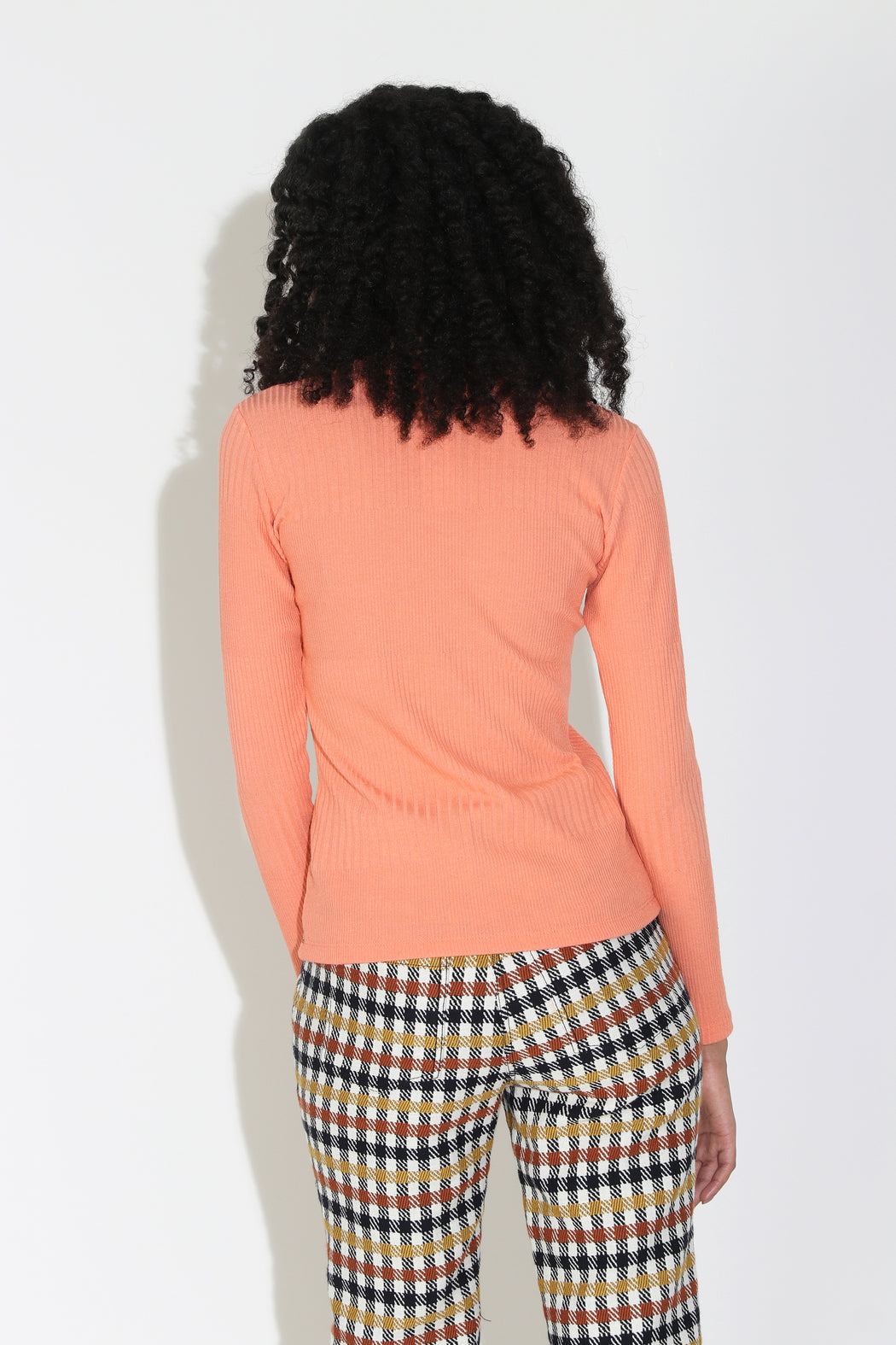 No.6 Stellan Crewneck in Apricot Knit Rib