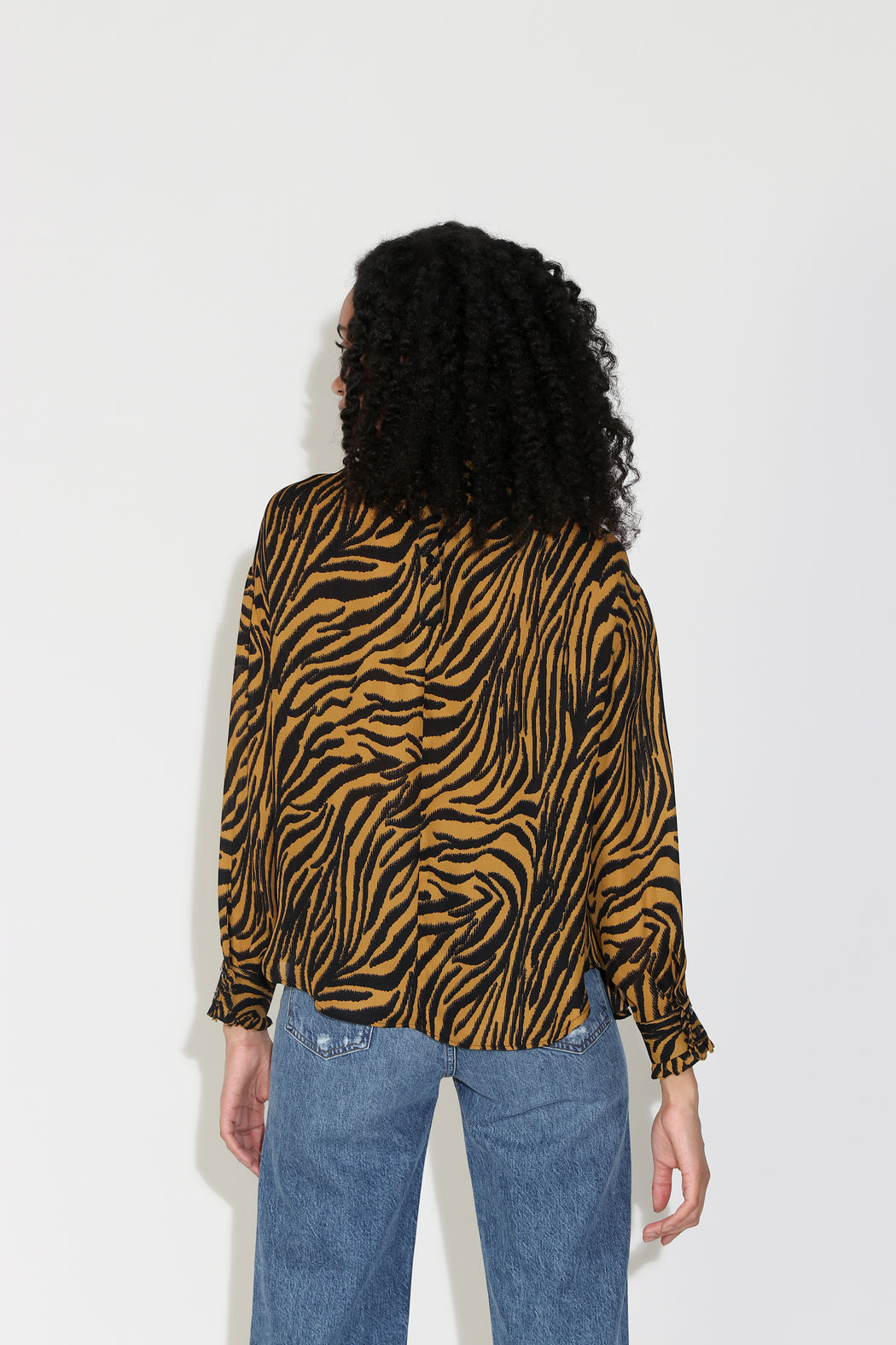 No.6 Thomas Top in Tobacco Black Zebra