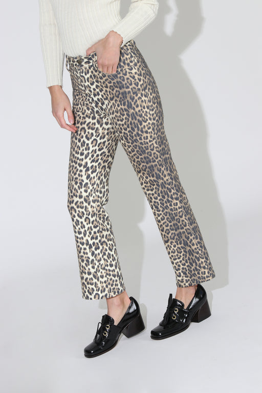 No 6 Tuesday Canvas Jean Leopard