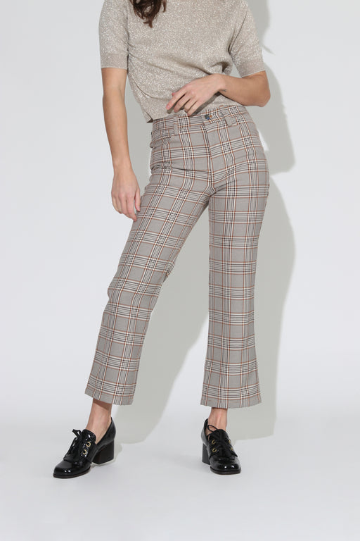 No 6 Tuesday Plaid Jean Oxford