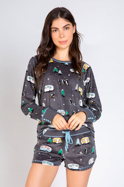 PJ-Salvage-Chillout-Campers-Long-Sleeve-Top- Charcoal-1