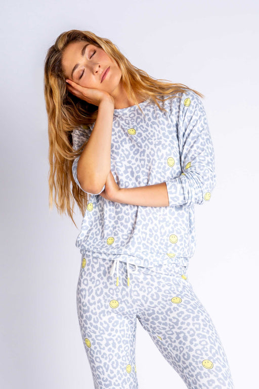 PJ-Salvage-Smiley-Print-Long-Sleeve-Top-Ivory-1