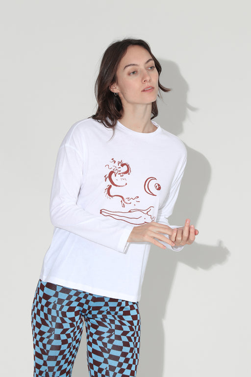 Paloma Wool Souvenir Dragon Top Off White
