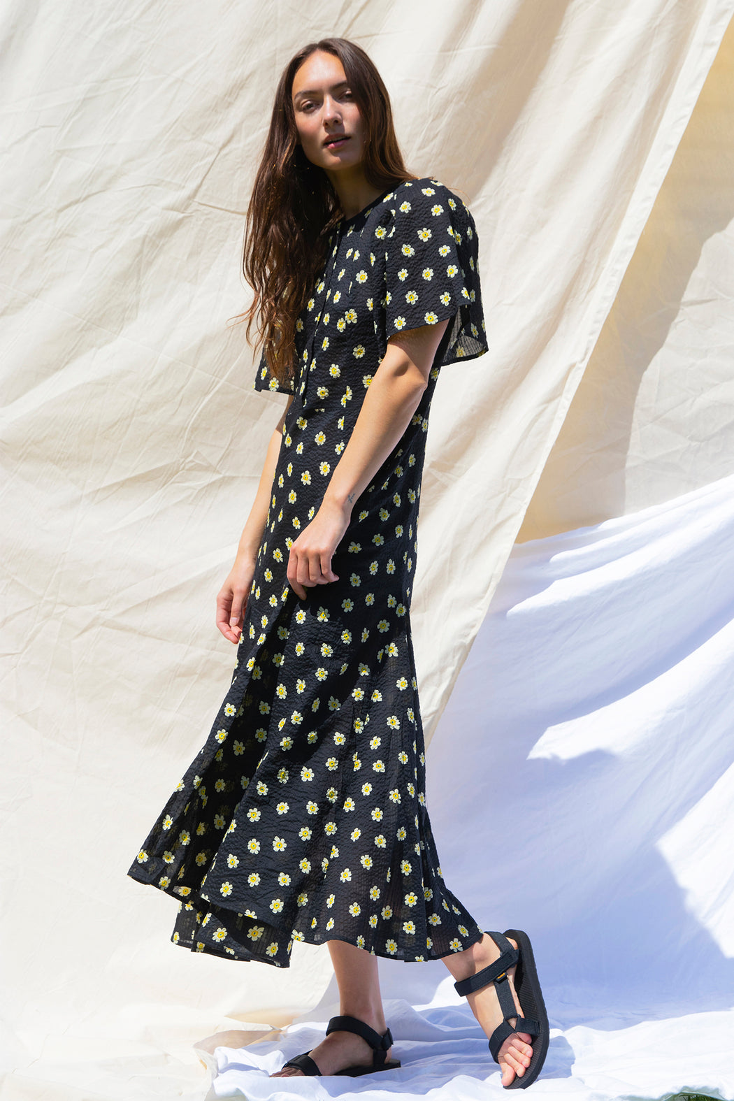 Permanent Vacation Lykke Floral Dress in Black