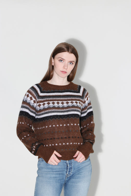 Redone 50's Raglan Crew Sweater Brown