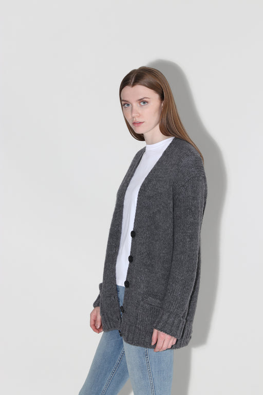 Redone 90's Cardigan Charcoal