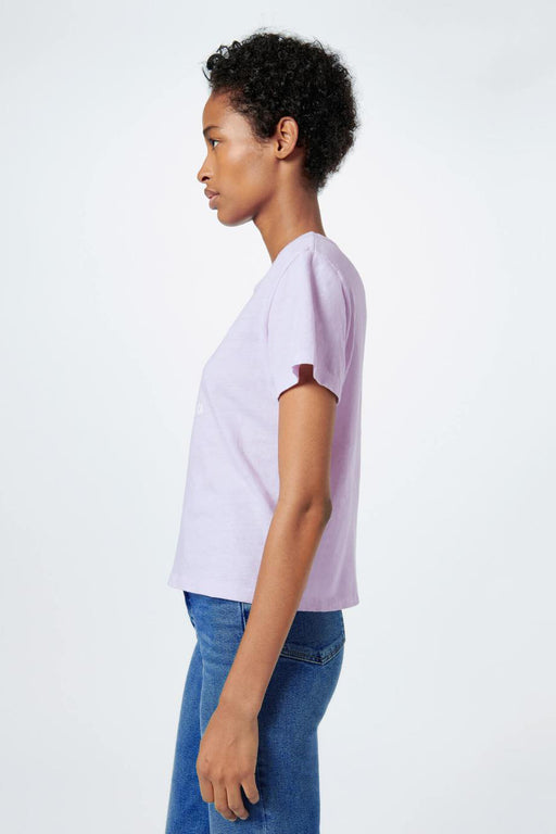 "RE/DONE Classic ""Coconut Teaser"" Tee in Lilac"