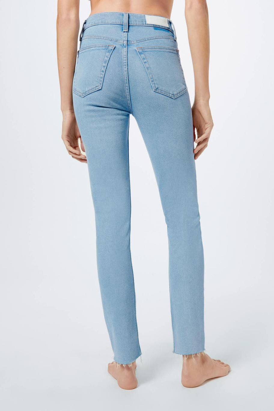RE/DONE Comfort Stretch High Rise Ankle Crop Jean in Light 2