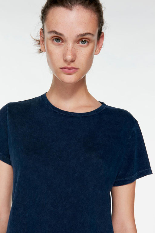 RE/DONE The Classic Tee in Mineral Wash Navy
