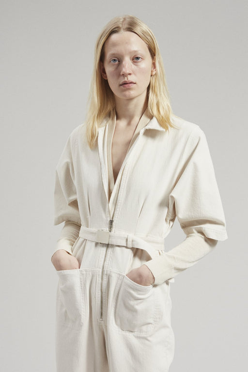 Rachel Comey Drill Jumpsuit Dirty White Denim