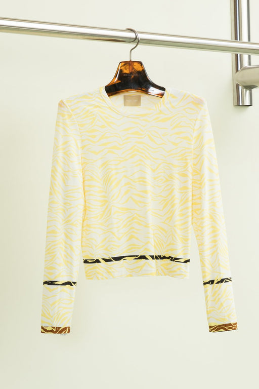 Rachel Comey New Satellite Top Yellow Multi Zebra