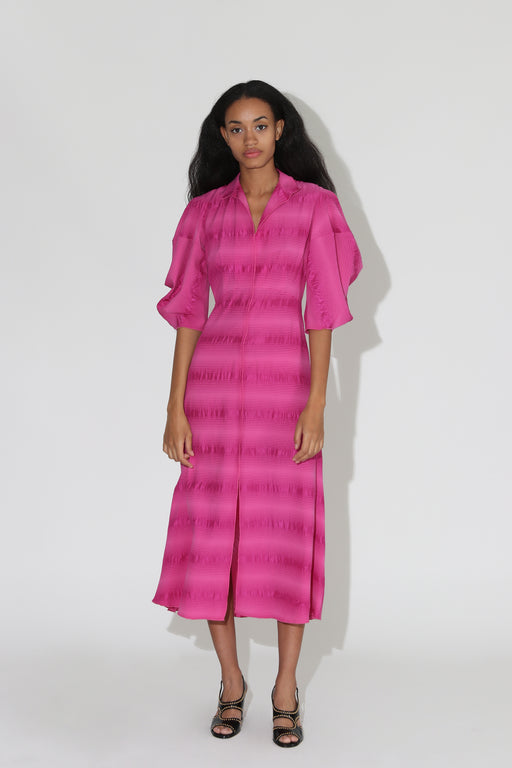 Rachel Comey Amplus Silk Dress Fuchsia