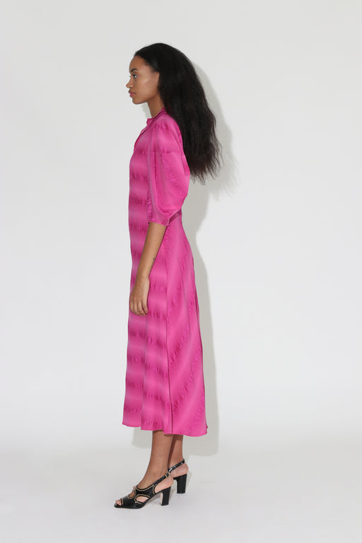 Rachel Comey Amplus Silk Dress Fuschia