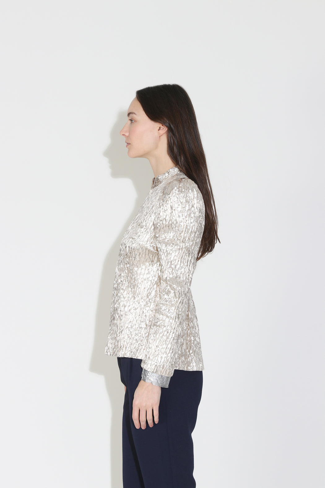 Rachel Comey Bar Top in Champagne Crespi Silk