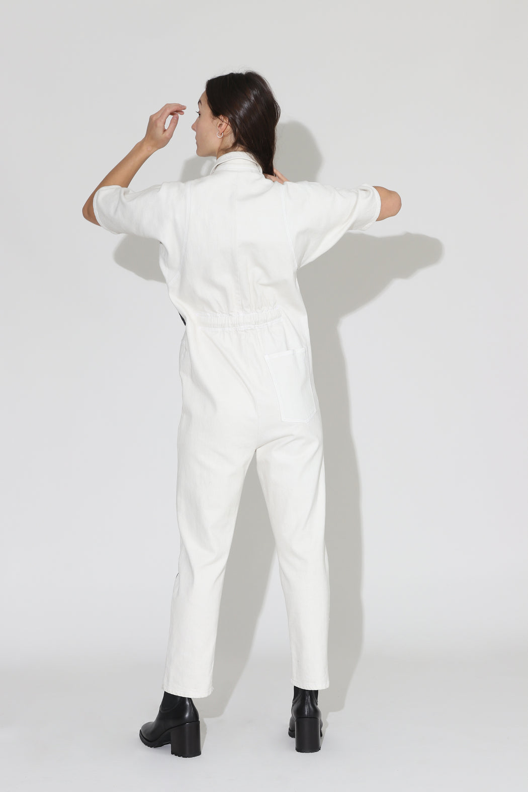 Rachel Comey Handy Denim Jumpsuit White Black