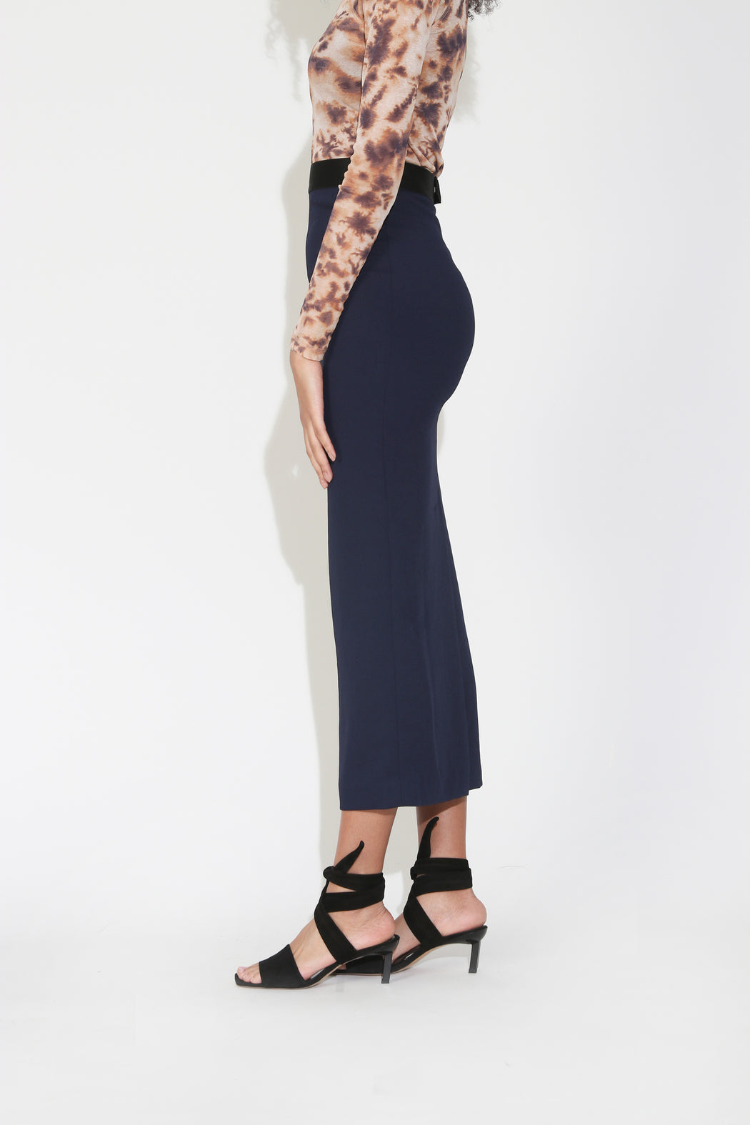 Rachel Comey Native Skirt in Midnight Pebble