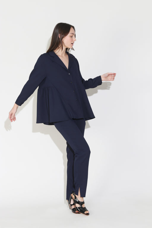 Rachel Comey Yuca Top in Midnight Pebble