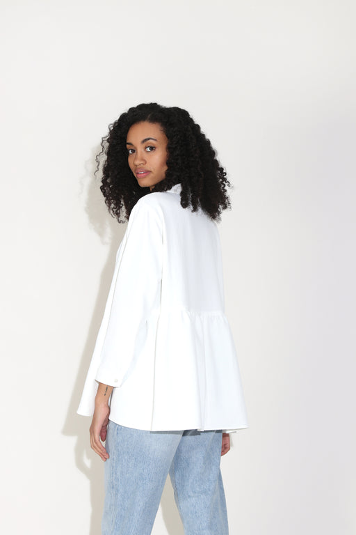 Rachel Comey Yuca Top in White Pebble