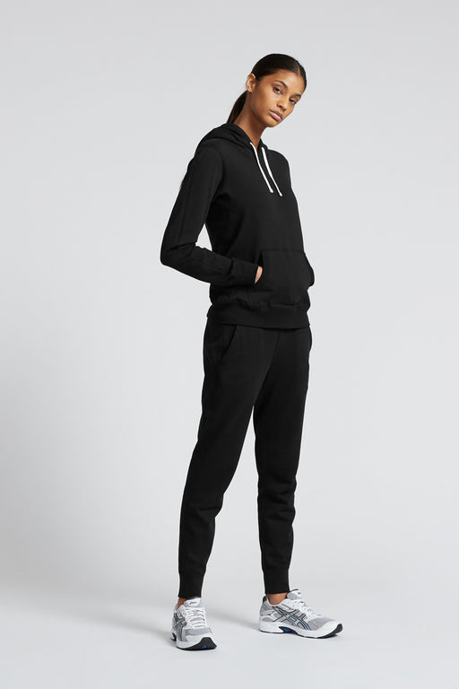 Reigning Champ Lightweight Pullover Hoodie in Black