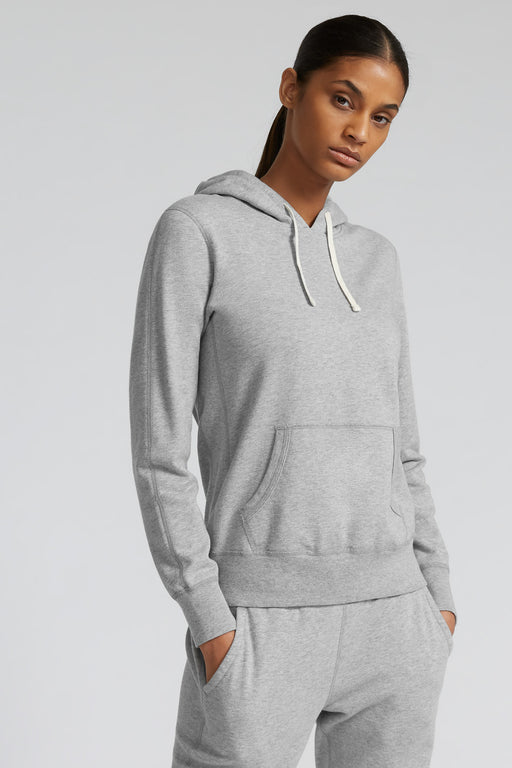 Reigning Champ Lightweight Pullover Hoodie in Heather Grey