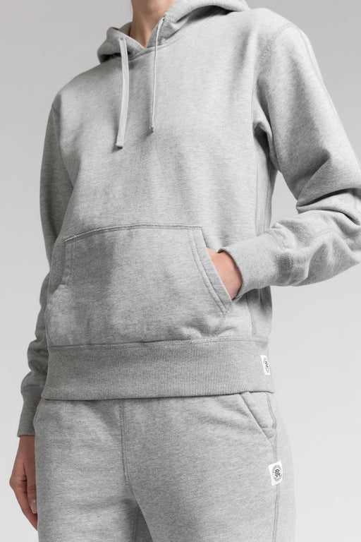 Reigning Champ Midweight Relaxed Pullover Hoodie in Heather Grey