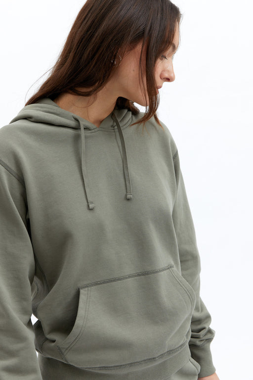 Reigning Champ Midweight Relaxed Pullover Hoodie in Sage