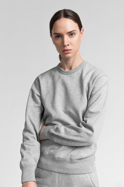 Reigning Champ Midweight Relaxed Crewneck in Heather Grey