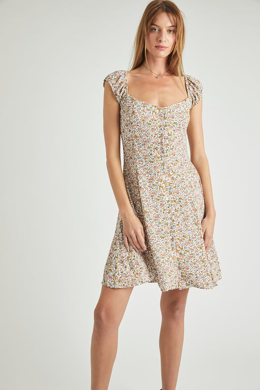 Rolla's Erin Coast Floral Dress in White