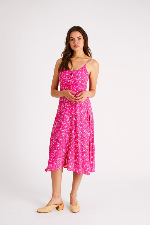 Rolla's Midsummer Mini Tulips Dress in Hot Pink