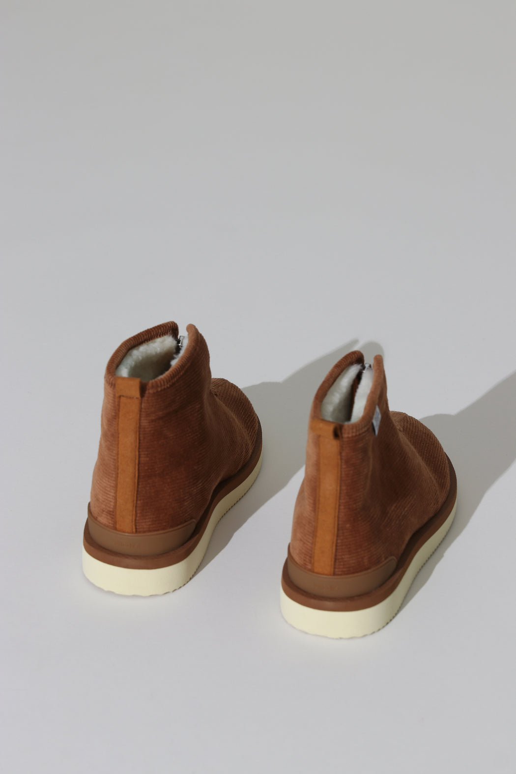 Suicoke Corduroy Shearling Boot Brown