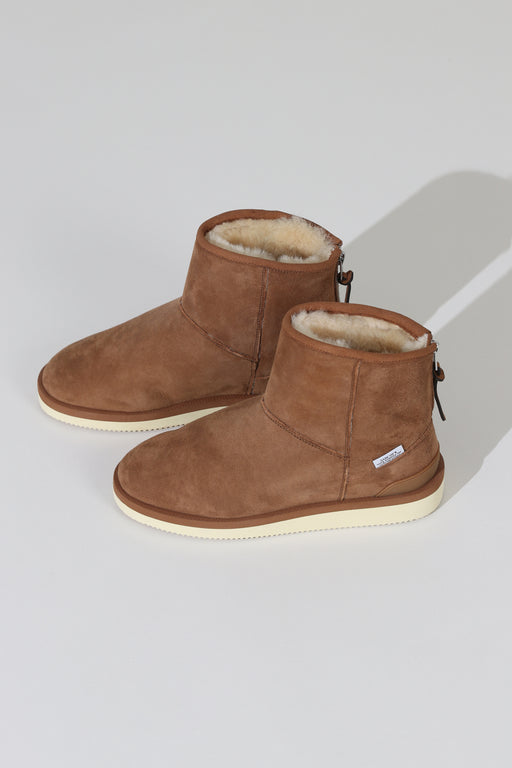 Suicoke Shearling Boot Brown