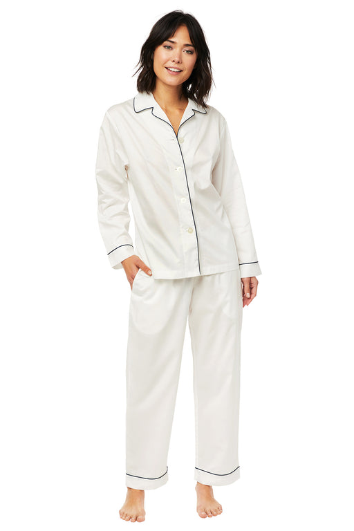 The-Cats-Pajamas -Classic-White-Luxe-Pima-Pajama-Set