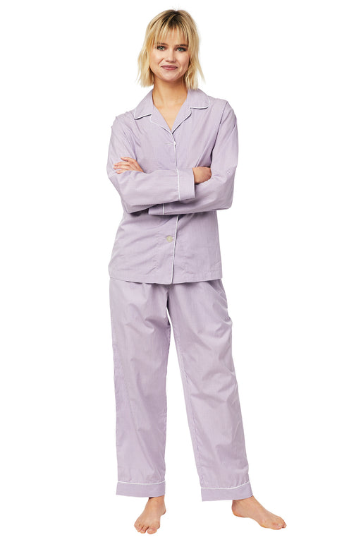 The-Cats-Pajamas-Check-Luxe-Pima-Pajama-Set-Lavender