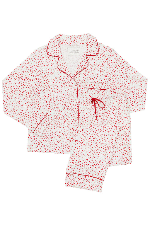 The-Cats-Pajamas-Confetti-Dot-Pima-Knit-Pajama-Set-Red