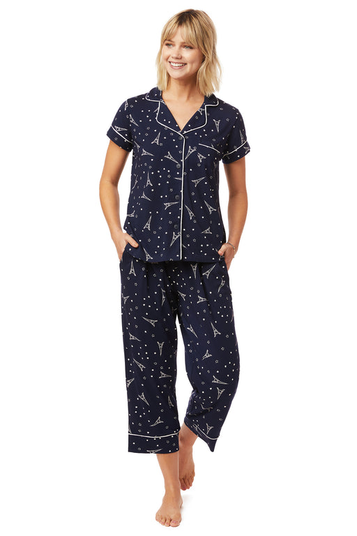The-Cats-Pajamas-Etoile-Pima nit-Capri-Set-Navy-White