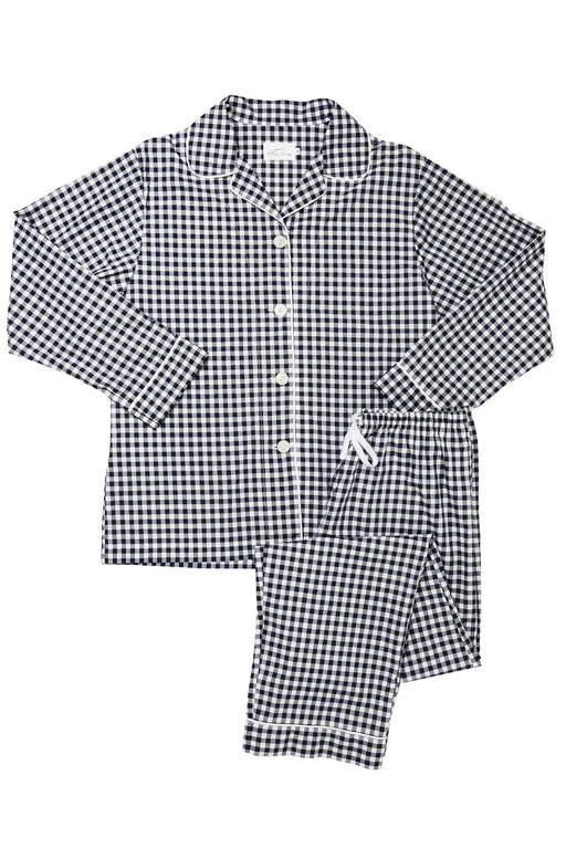 The-Cats-Pajamas-Gingham-Luxe--Pima-Cotton-Pajama-Set-Black